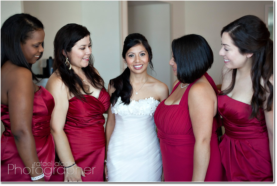 Wayfarers Chapel-Palos Verdes-bridal party-girls