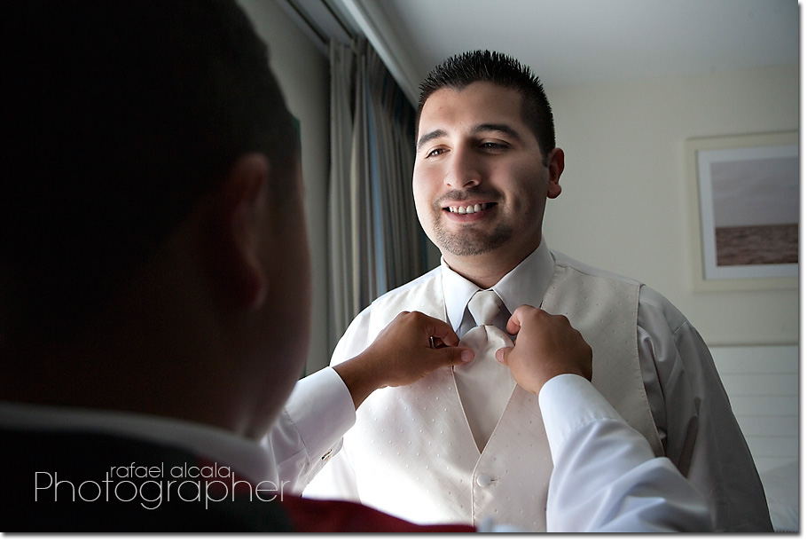 Wayfarers Chapel-Palos Verdes-groom getting ready