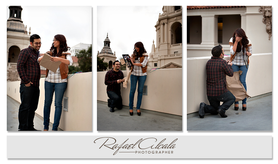 Proposal- city hall-engagement photos