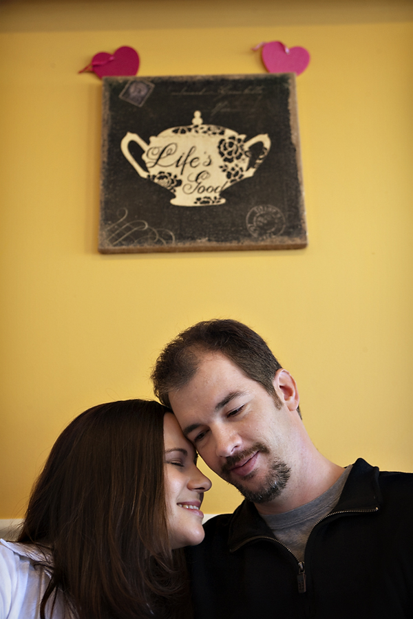 destination engagement session, tea shop photo